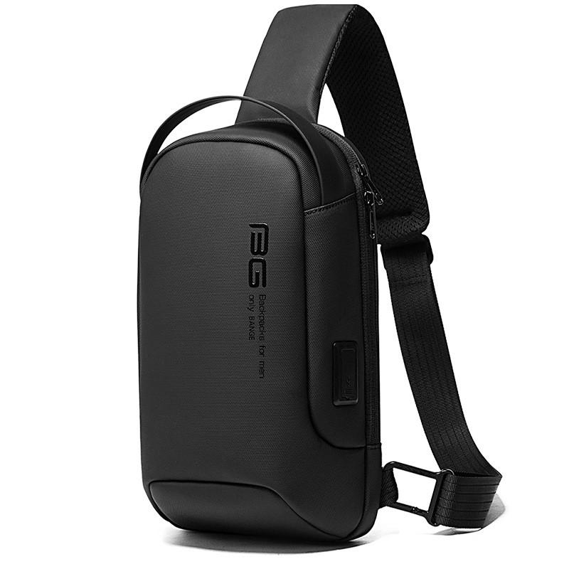 Однолямочный рюкзак Bange BG7221, с USB портом из водоотталкивающей ткани, 5л