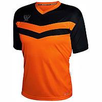 Футболка футбольная Swift Romb CoolTech (н.оранж/черная), размер S