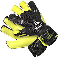 Детские вратарские перчатки Select 03 Youth (405) черн/желт, размер 4