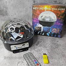 Светодиодный LED диско-шар Mp3 Magic Ball Light + пульт, флешка