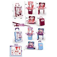 Детский игровой набор Доктора CK05A медицинский набор в чемодане на колесах складывается в стол