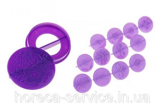 Фигурки пласмасовые для декорирования капкейков Ø 25/60 мм (упаковка 14 шт)