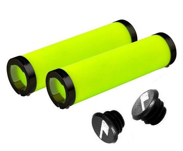 Грипсы Longus FLUO Neon MTB, салатовые