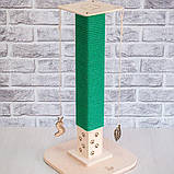 Когтеточка столбик с хлопковым канатом Markissa TM, фото 2