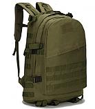 Городской тактический штурмовой военный рюкзак на 40 литров чёрный, зеленый песочный, фото 3