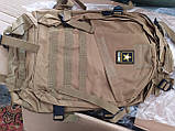 Городской тактический штурмовой военный рюкзак на 40 литров чёрный, зеленый песочный, фото 4