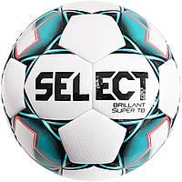 Мяч футбольный SELECT Brillant Super TB (043) бел/зеленый, размер 4