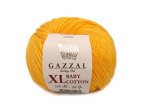 Gazzal Baby Cotton XL, ярко-желтый №3417