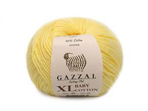 Gazzal Baby Cotton XL, лимонный №3413