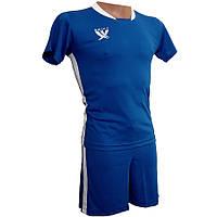 Футбольная форма детская Swift PRIORITET (сине-белая), размер XS/152 см, фото 1