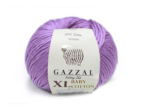 Gazzal Baby Cotton XL, фиолетовый №3414