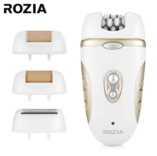 Многофункциональный эпилятор бритва с насадками4-в-1 Rozia HB-6007 White/Gold