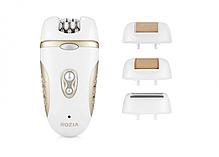 Многофункциональный эпилятор бритва с насадками4-в-1 Rozia HB-6007 White/Gold, фото 3