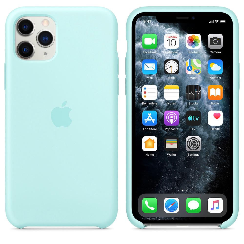 Накладка Silicone Case (high copy) iPhone 11 Pro Max Пудровий