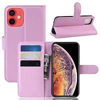 Чехол-книжка Litchie Wallet для Apple iPhone 12 Pink