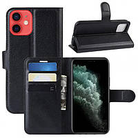 Чехол-книжка Litchie Wallet для Apple iPhone 12 Mini Black