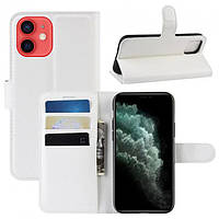 Чехол-книжка Litchie Wallet для Apple iPhone 12 Mini White