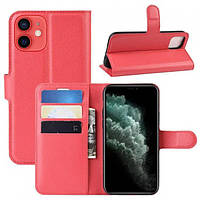 Чехол-книжка Litchie Wallet для Apple iPhone 12 Mini Red
