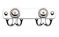 Гачок для рушників подвійний (зі стразами), Туреччина К110