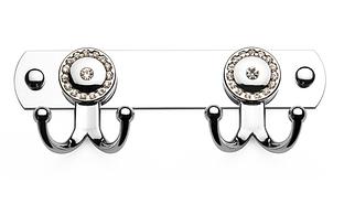 Крючок для полотенец двойной  (со стразами), Турция К110