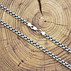 Серебряная цепочка с чернением Бисмарк длина 50 см ширина 5 мм вес 20.8 г, фото 6