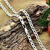 Серебряная цепочка Тройной Бисмарк длина 60 см ширина 6 мм вес серебра 23.7 г, фото 3