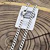 Серебряная цепочка родированная Панцирная скруглённая длина 60 см ширина 4 мм вес 18.0 г, фото 3