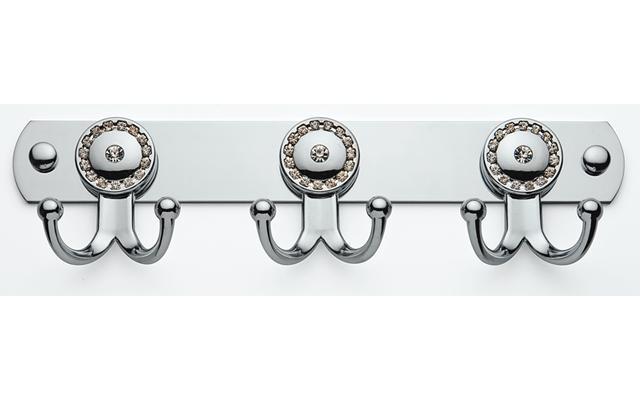 Крючки для полотенец на планке 6 шт (со стразами), Турция К111