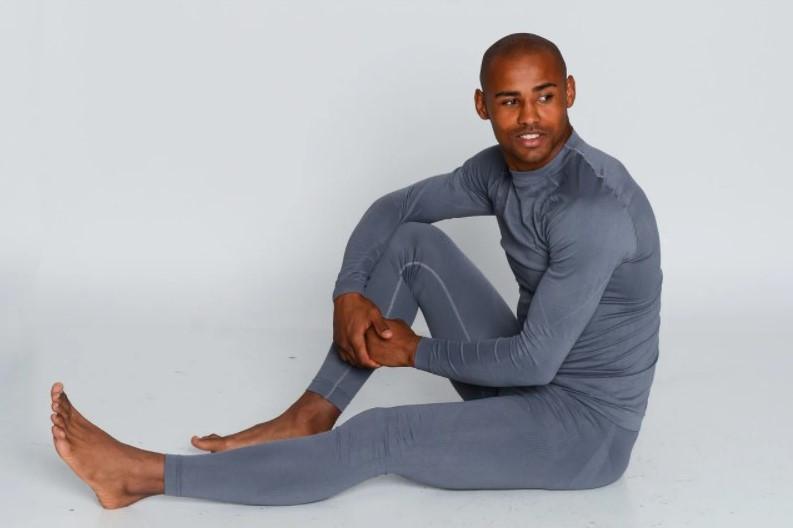 Мужские термоштаны для спорта HASTER ProClima зональные бесшовные, Серый