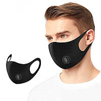 Защитные маски многоразового использования с клапаном 12 шт., фото 1