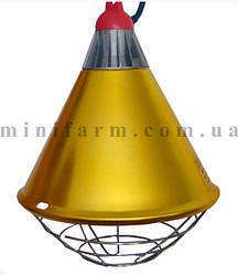 Защитный плафон для лампы с радиатором и переключателем на шнуре