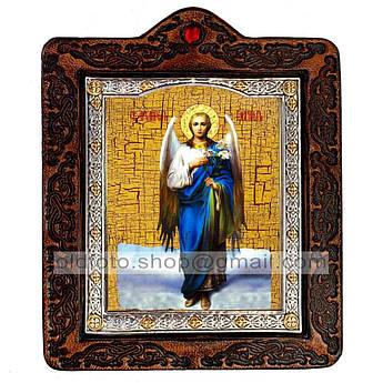 Икона Архангел Гавриил  ,икона на коже 80х100 мм