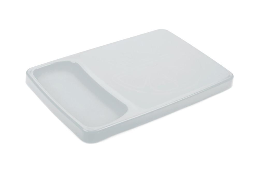 Доска разделочная пластиковая с лотком Berossi Krita 37х24 см снежно-белый