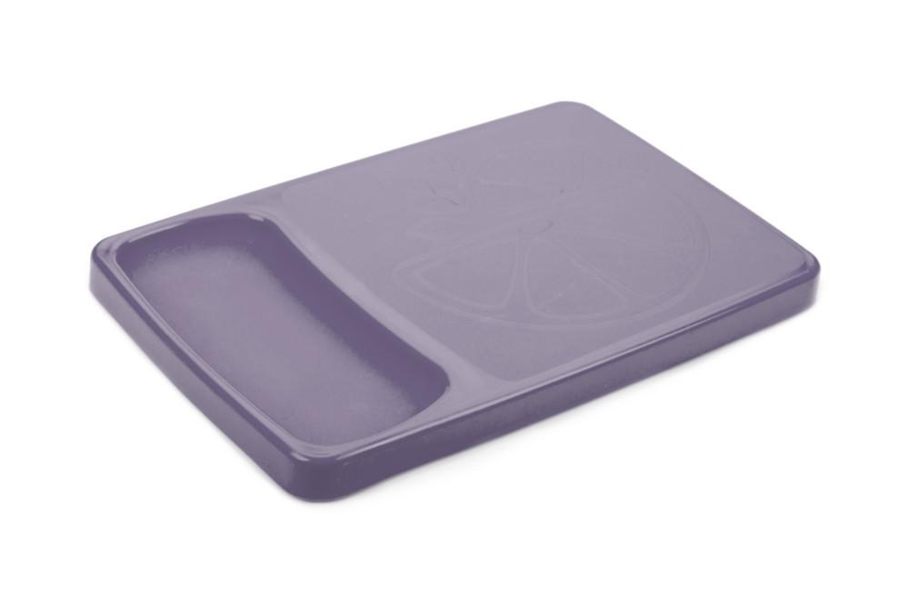 Доска разделочная пластиковая с лотком Berossi Krita 37х24 см сиреневый туман