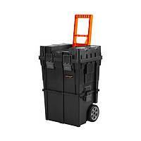 Ящик для инструмента Dnipro-M Transporter 2 в 1 с колёсами, 4 органайзера