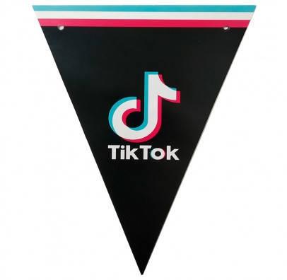 Паперові святкові прапорці гірлянди Тік Ток Tik Tok