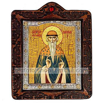 Икона Вадим Святой Мученик Персидский  ,икона на коже 80х100 мм