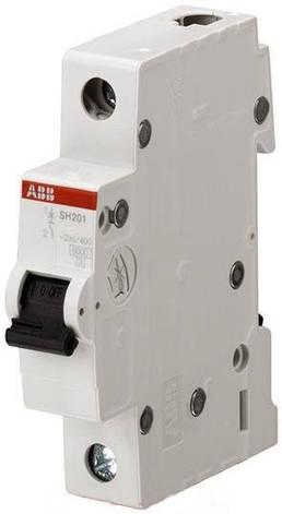 Автоматичний вимикач 40А, 1 полюс, тип C, ABB SH201-C40, фото 2