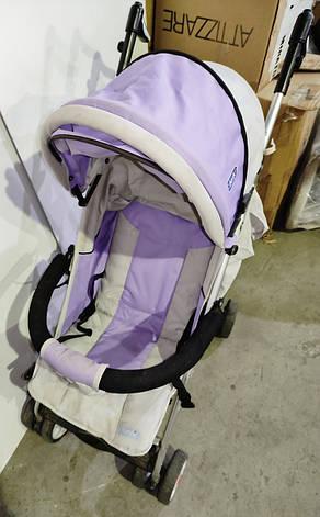 Б/У Коляска детская Bambi бежево-фиолетовая, фото 2