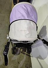 Б/У Коляска детская Bambi бежево-фиолетовая, фото 3