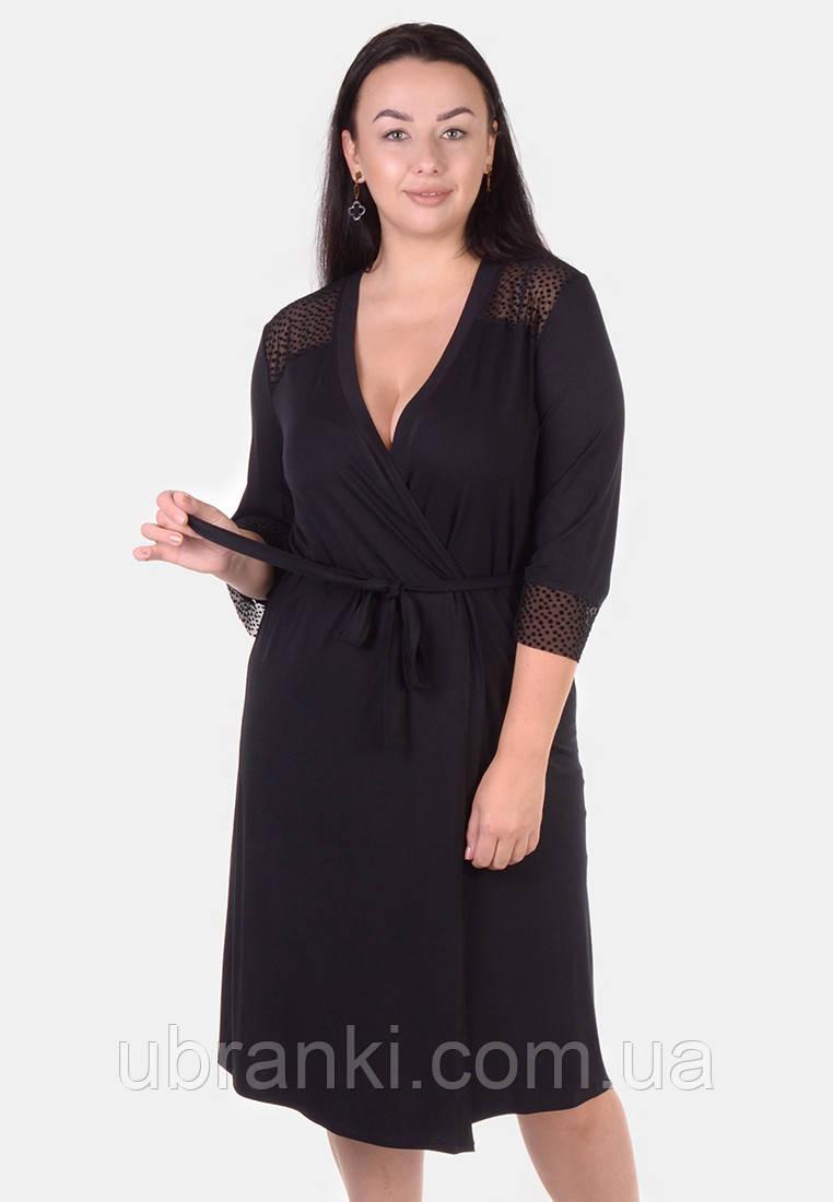Женский халат из высококачественной и натуральной мягкой вискозы на запах