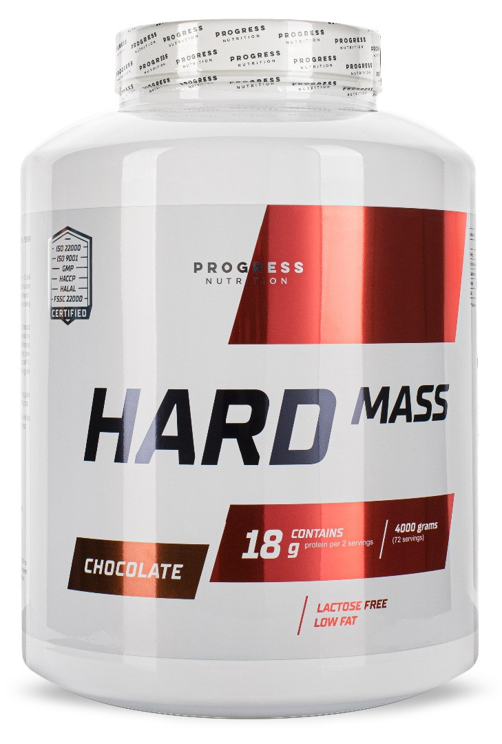 Гейнер Progress Nutrition Hard Mass 4000g ВАНИЛЬ