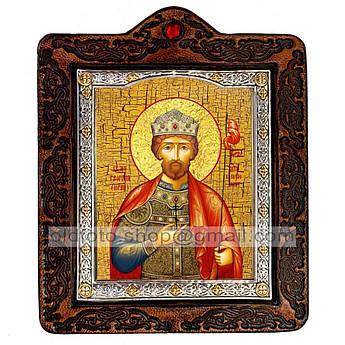 Икона Юрий Святой Благоверный Князь  ,икона на коже 80х100 мм