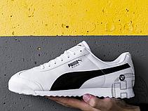Чоловічі кросівки Puma BMW MMS Roma White Black 306195-02, фото 3