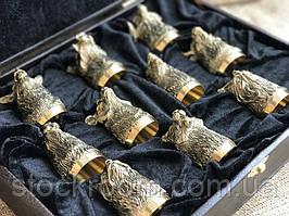 Стопки перевертыши Люкс набор из 10 штук бронза (48440036)