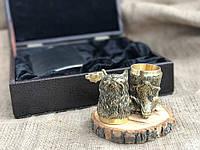 Стопки головы животных набор 2 шт с флягой Люкс Nb Art (48440010), фото 1