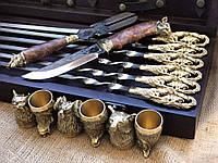 Шампура с охотничьим ножом и стопками Люкс Nb Art  (47330076), фото 1