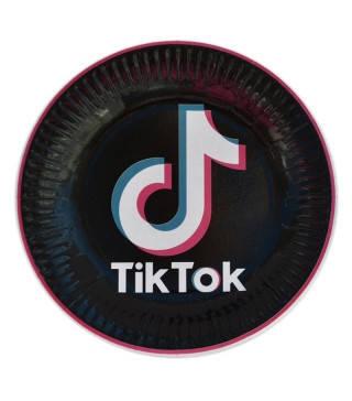 Тарілки дитячі одноразові святкові Tik ToK твк струм 10 шт