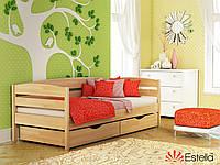 Деревянная односпальная кровать из бука НОТА ПЛЮС 102 щит