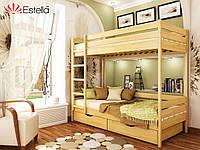 Двухъярусная деревянная кровать ДУЭТ 102 щит